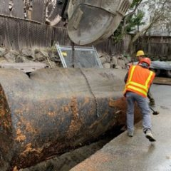 Old commercial tank excavation and removal