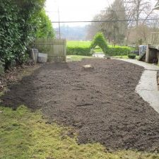 Completed residential site - contaminated soil removal